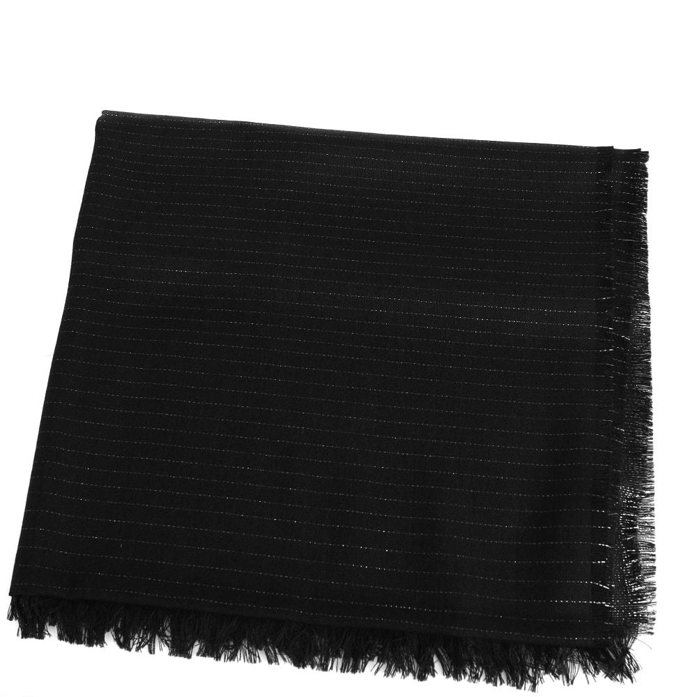 Тонкий палантин Maalbi черного цвета