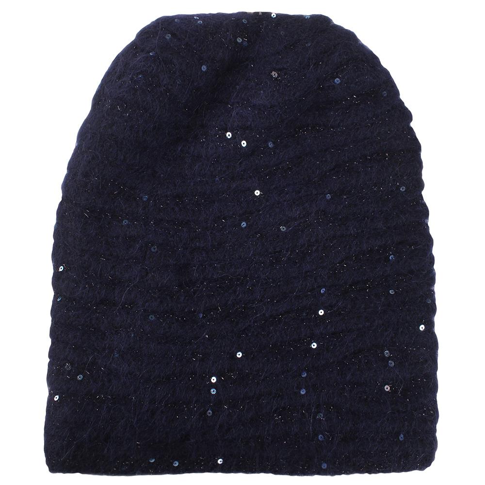 Синяя шапка Vizio Collezione с брендовым элементом