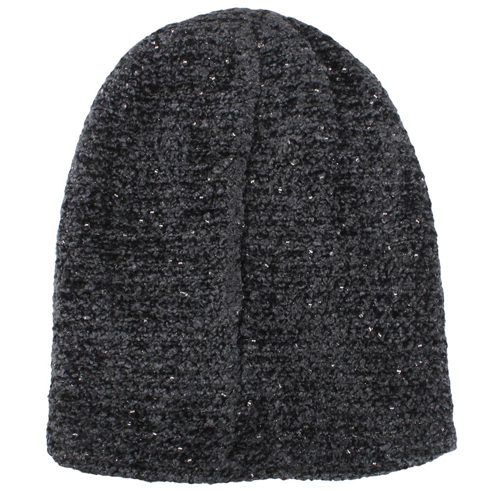 Серая шапка Vizio Collezione из микровискозы