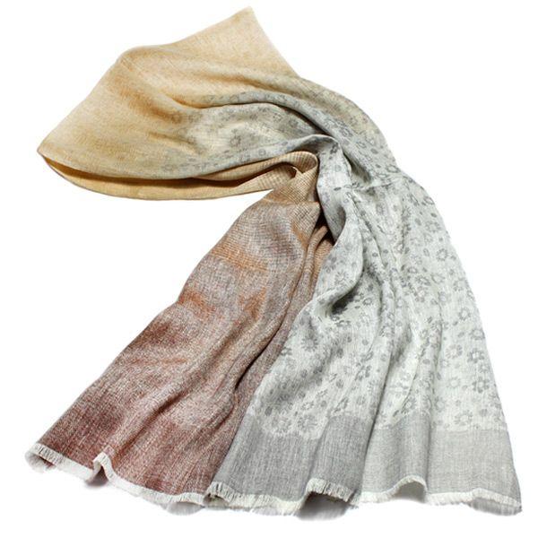 Льняной шарф Ostinelli с серыми оттенками