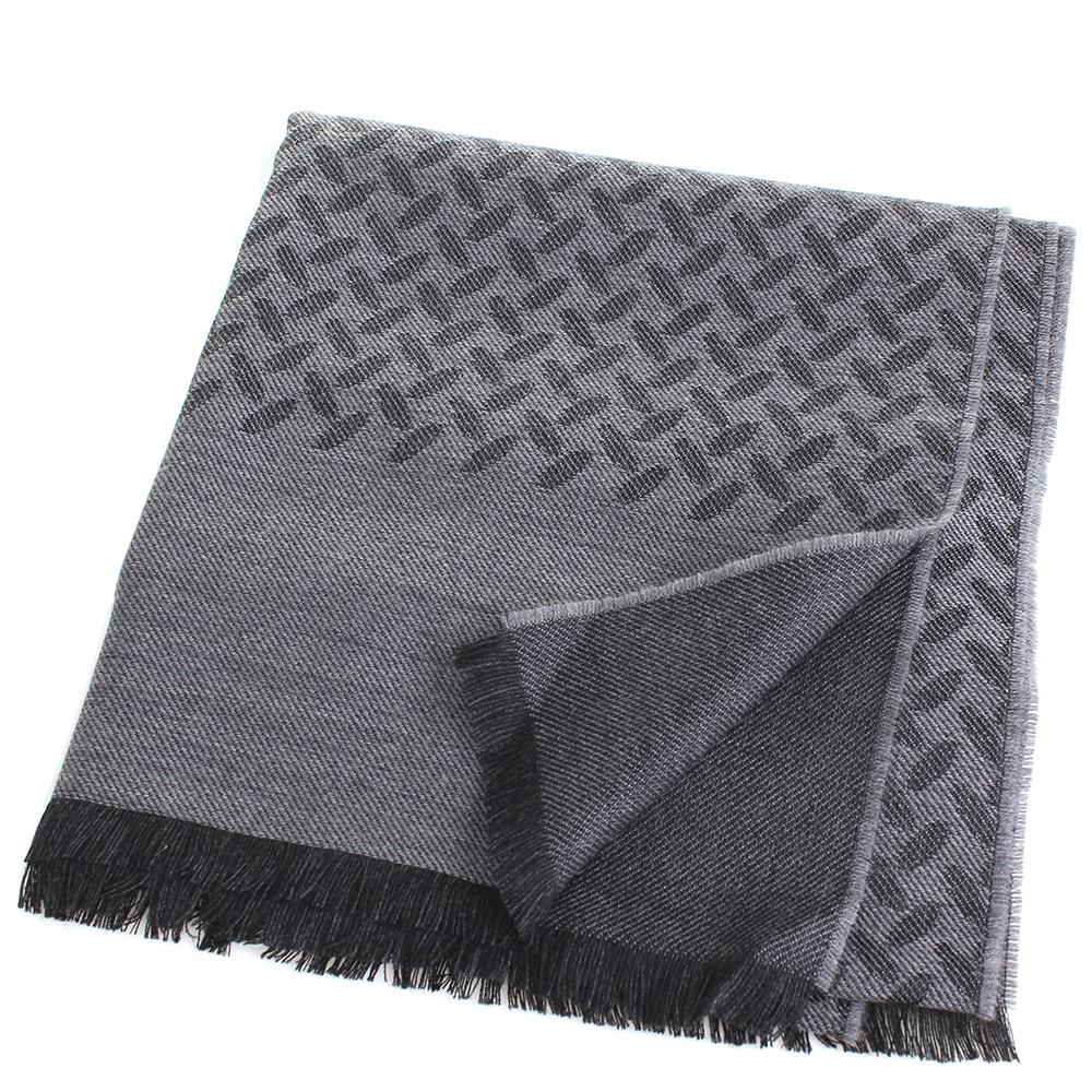 Палантин Maalbi серого цвета с абстрактным узором