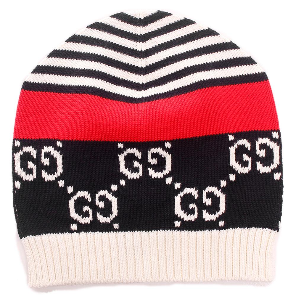 Хлопковая шапка Gucci с орнаментом