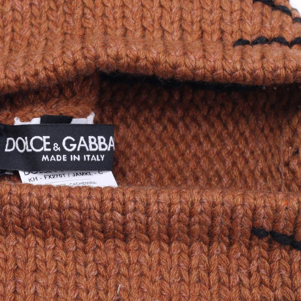 Вязаная шапка Dolce&Gabbana с ушками