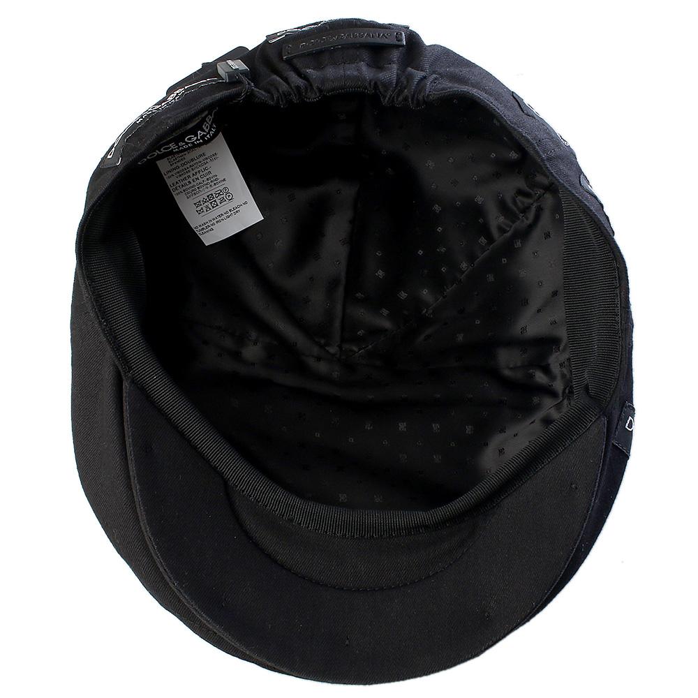 Черная кепка Dolce&Gabbana с резинкой сзади