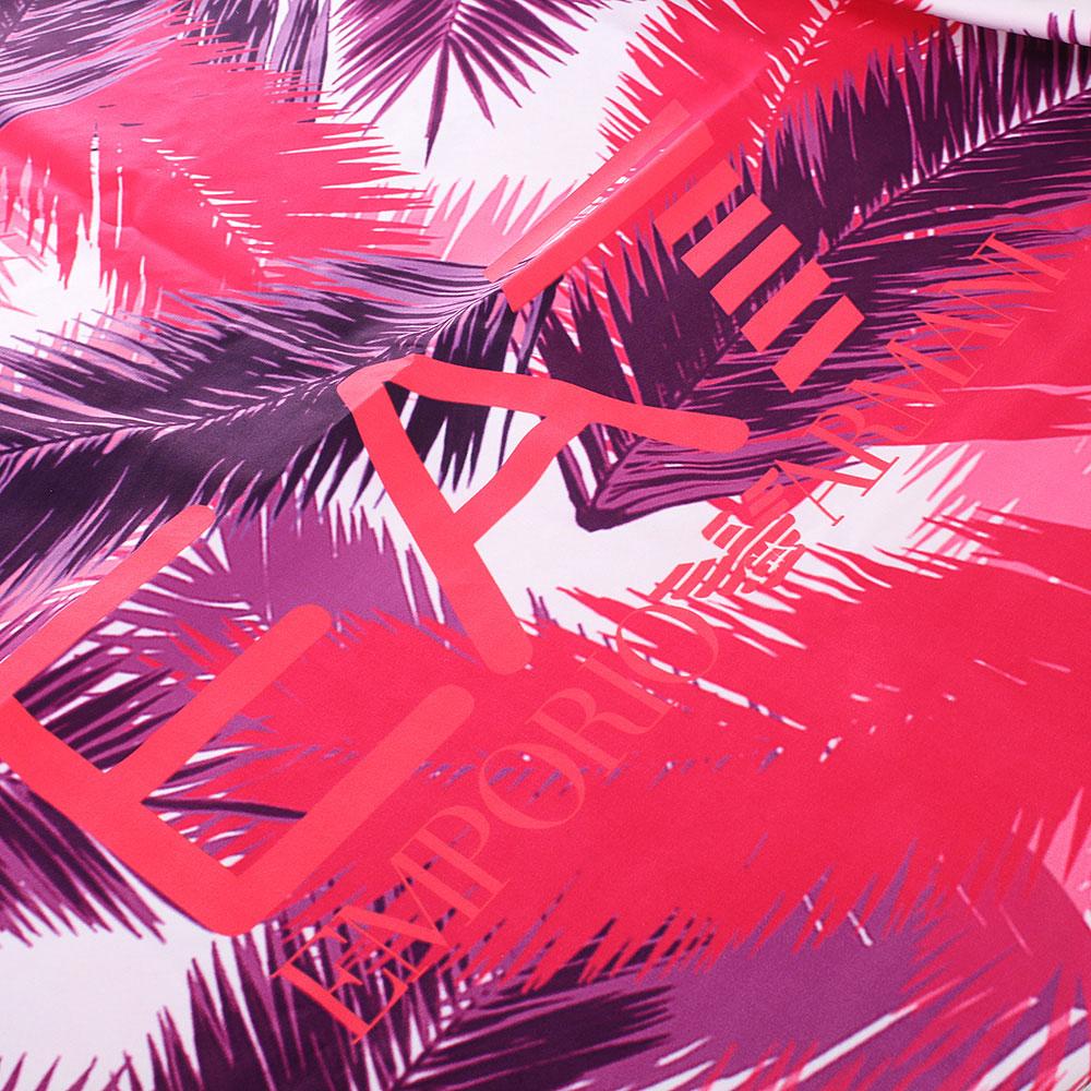 Платок-парео Ea7 Emporio Armani красный с фиолетовым