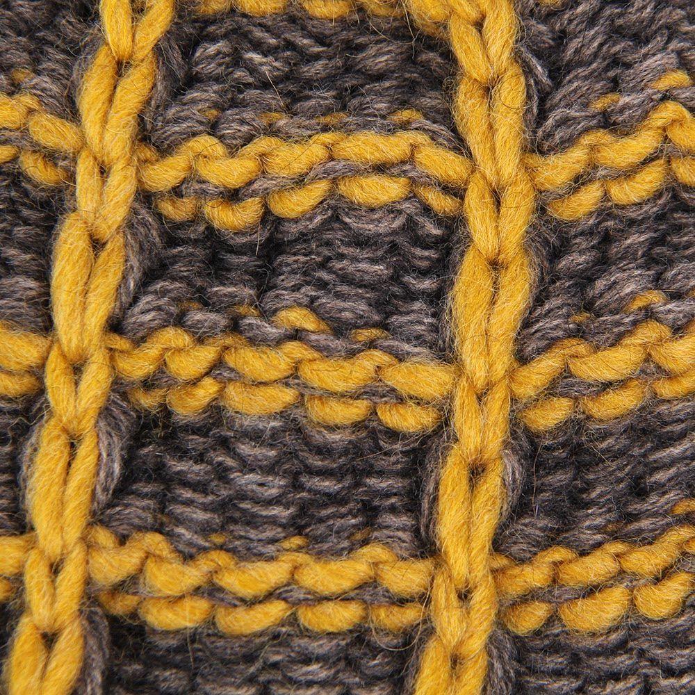 Шапка Le Camp вязаная желто-коричневая