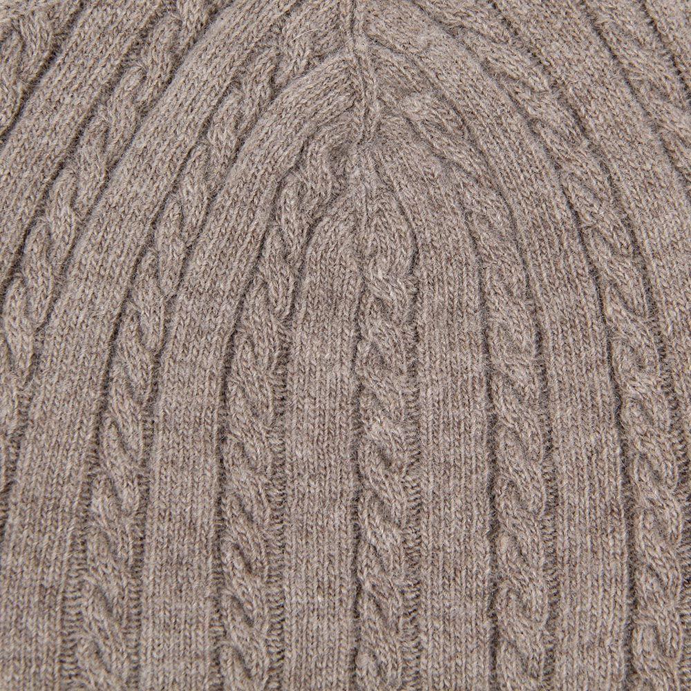 Шапка Le Camp Cashmere тонкая вязаная серовато-коричневого цвета
