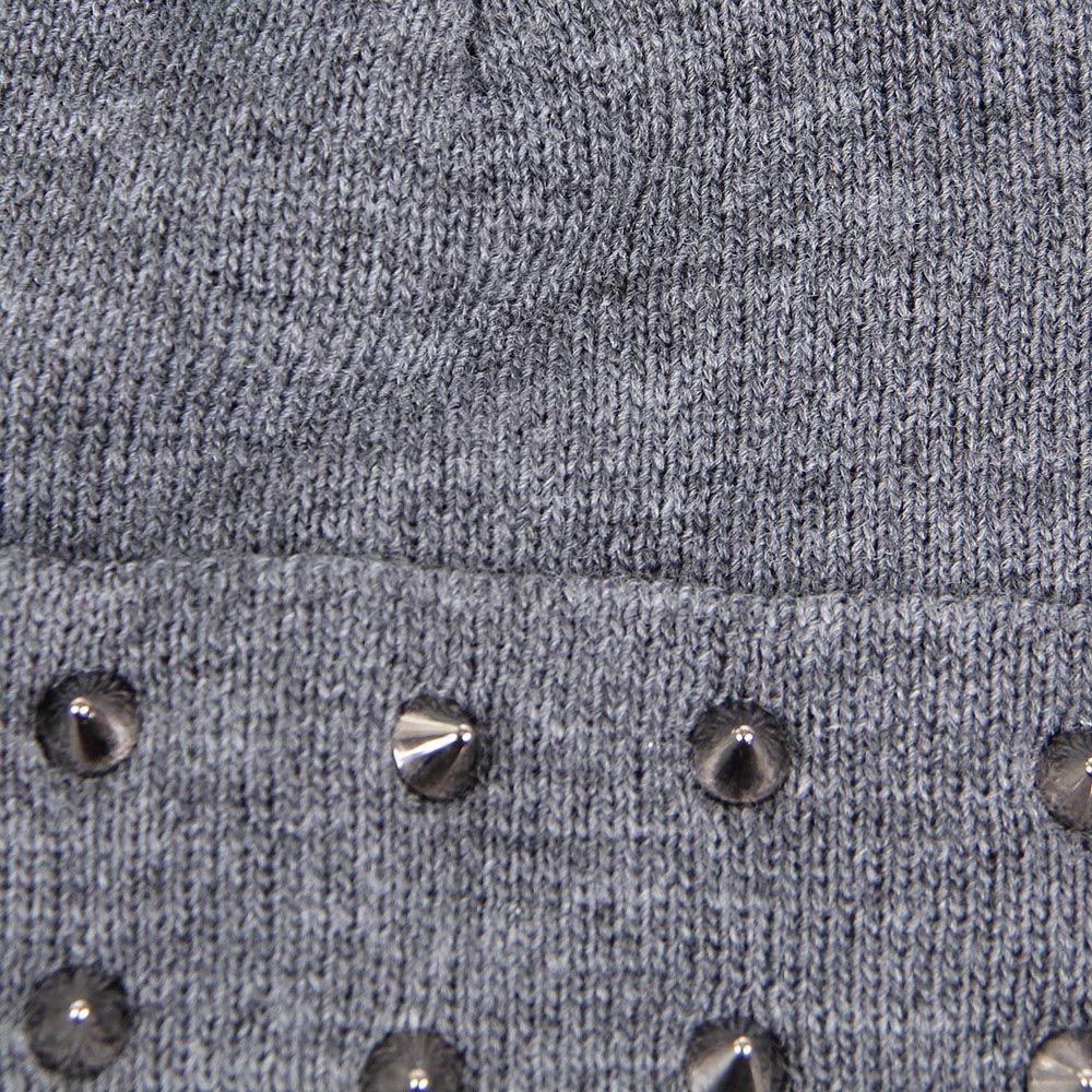 Шапка Le Camp серого цвета с металлическими шипами