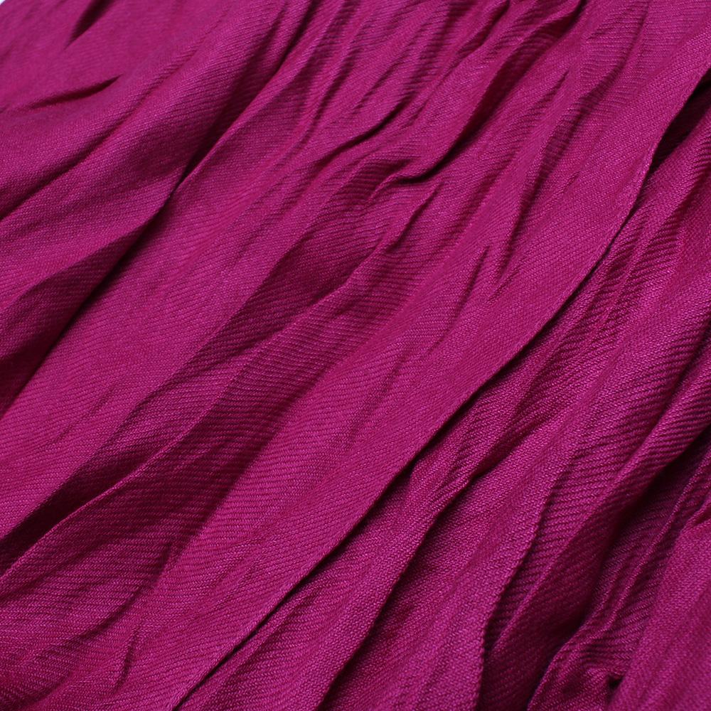 Жатый шарф-плиссе Fattorseta цвета спелой вишни