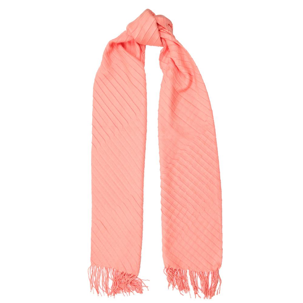 Лососевый шарф Fattorseta с плиссировкой