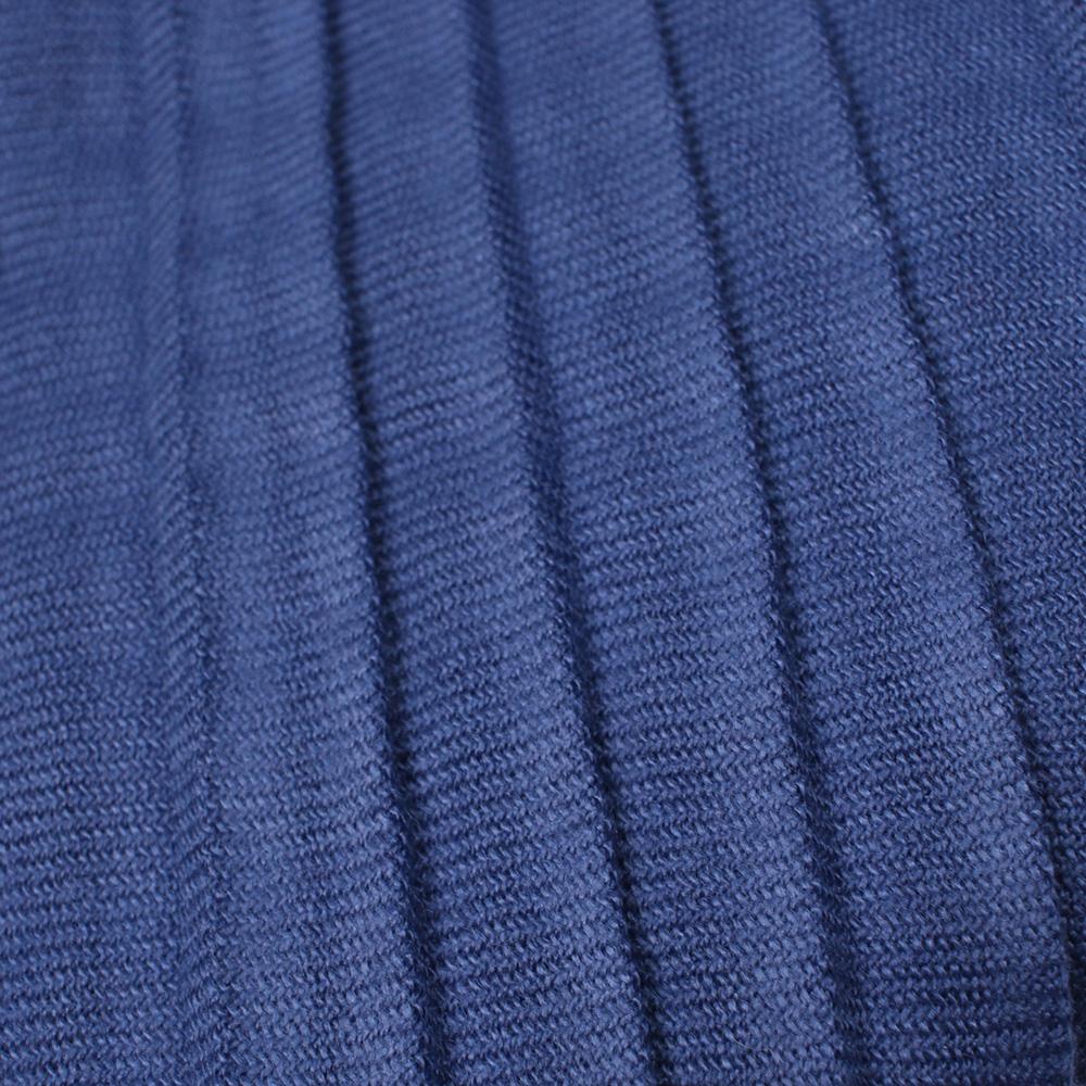 Длинный шарф-плиссе Fattorseta цвета синий джинс