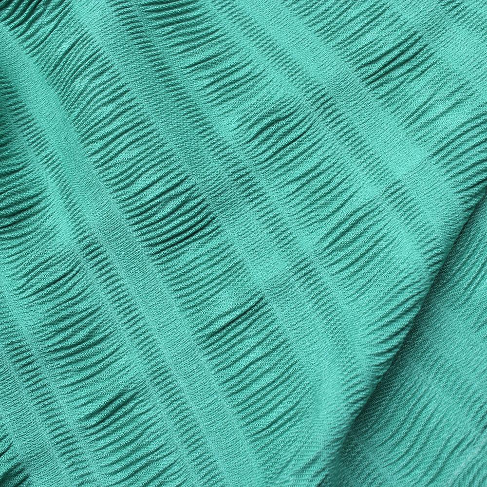 Шарф с плиссировкой Fattorseta цвета морской волны