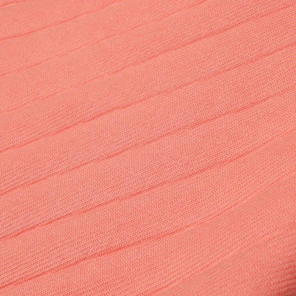 Шарф-плиссе Fattorseta лососевого цвета с бахромой