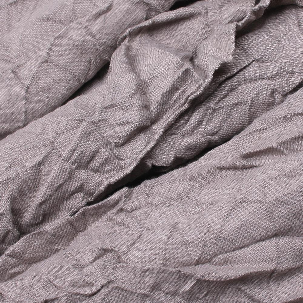 Коричневый шарф-плиссе Fattorseta жатый с бахромой