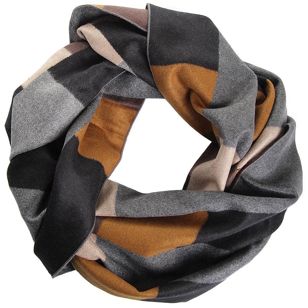Шелковый мужской шарф Amo Accessori с геометрическим принтом