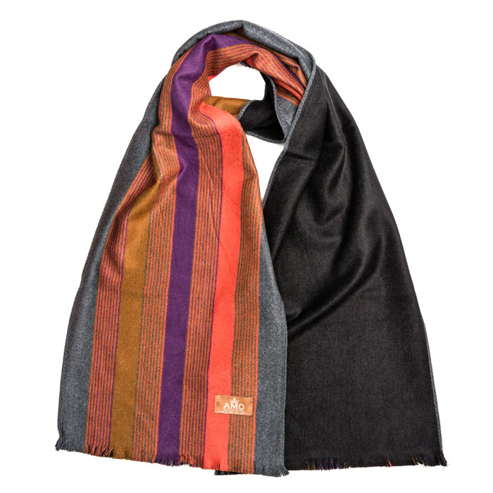 Шелковый шарф Amo Accessori яркую полоску