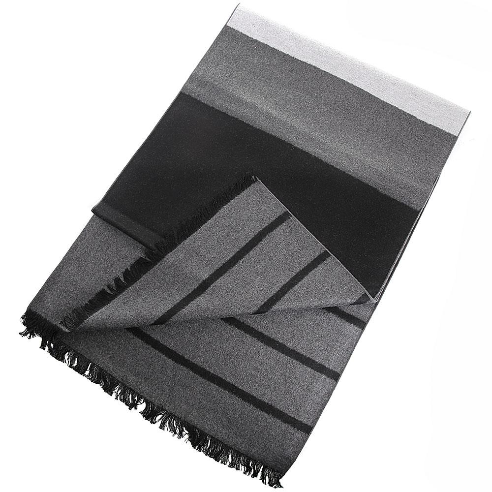 Шелковый шарф Amo Accessori серый с черным