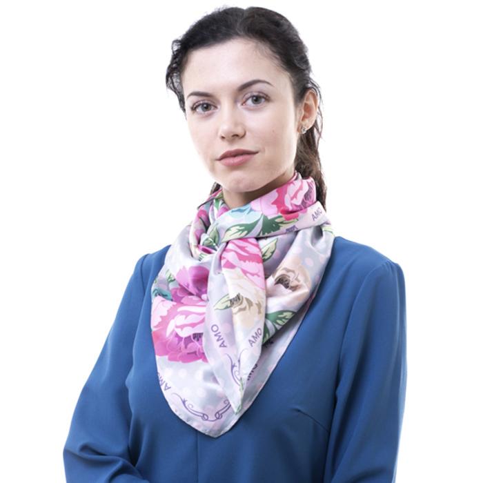 Платок Amo Accessori Peonies с флористическим принтом