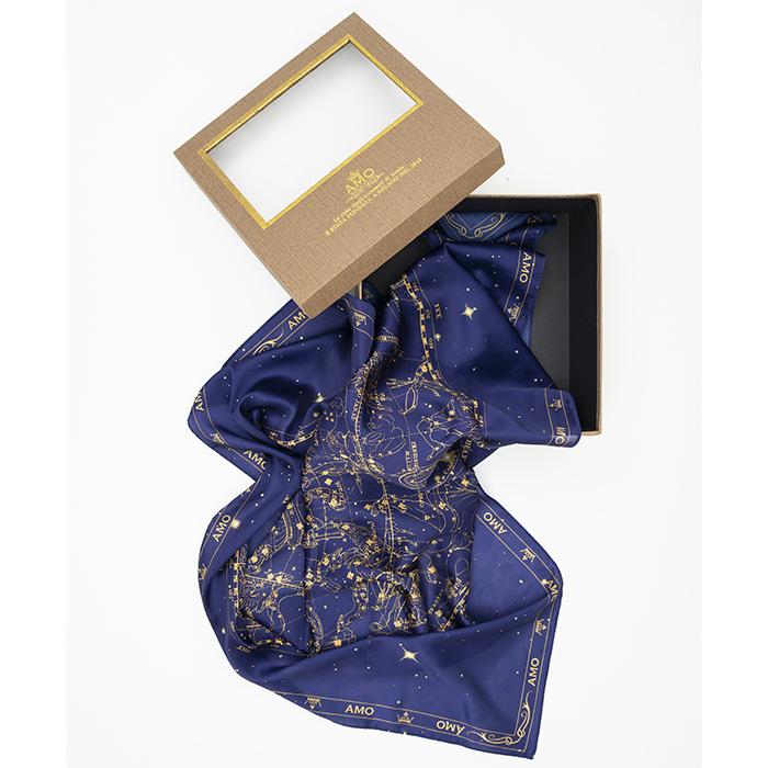 Шелковый платок Zodiac с принтом