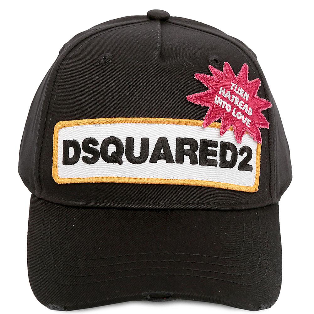 Бейсболка Dsquared2 черного цвета с нашивкой