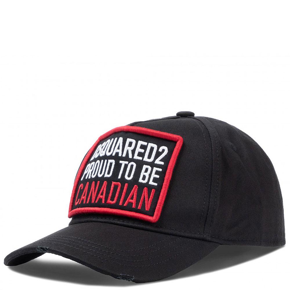 Черная кепка Dsquared2 с регулируемым ремешком
