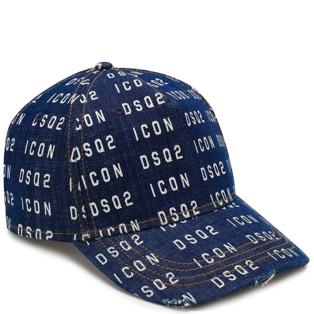 Джинсовая кепка Dsquared2 Icon синего цвета