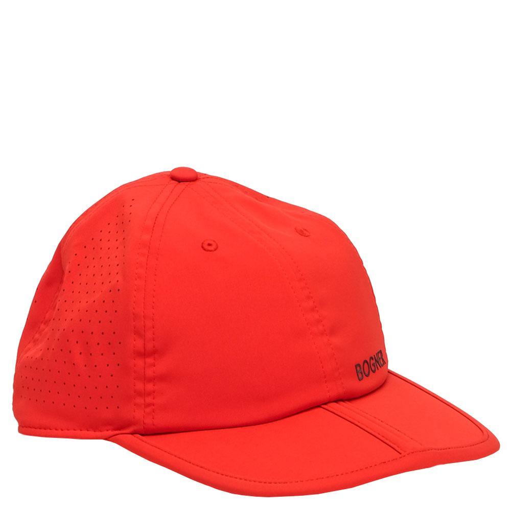 Красная кепка Bogner с перфорацией