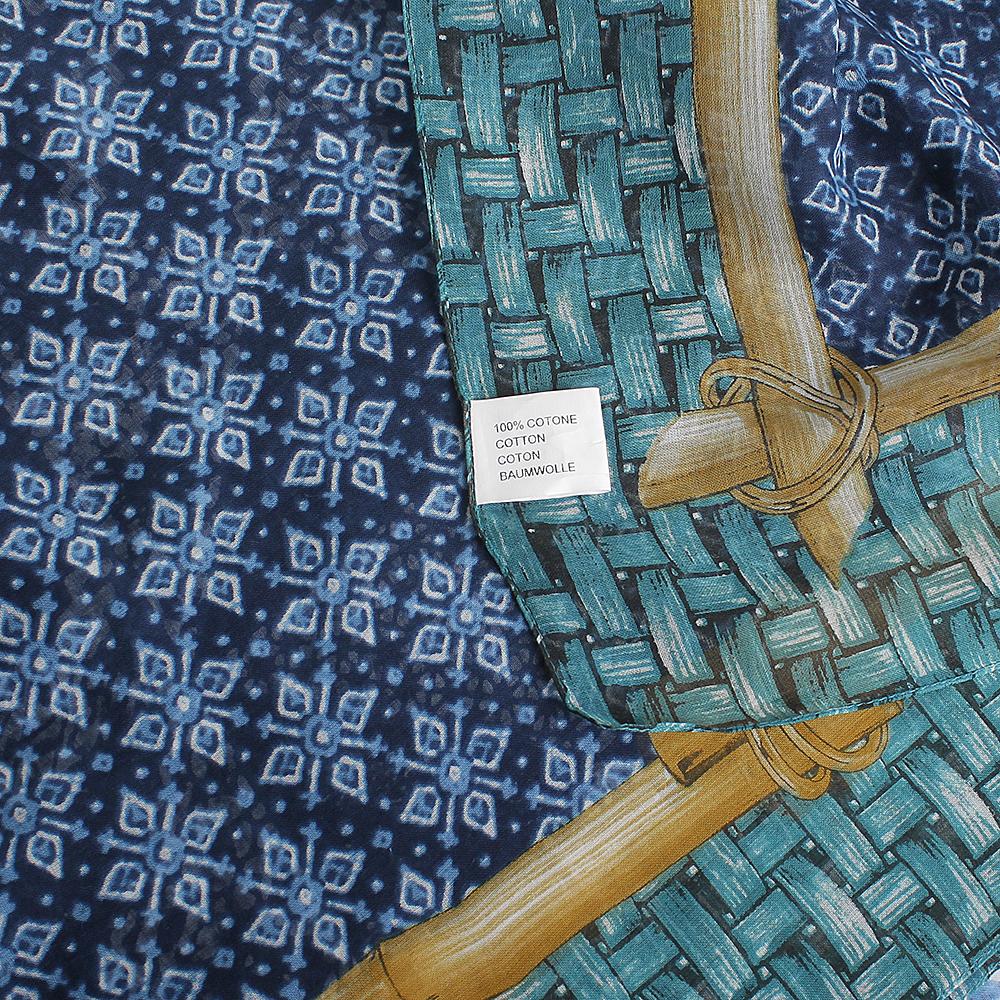 Платок Fattorseta в оттенках синего