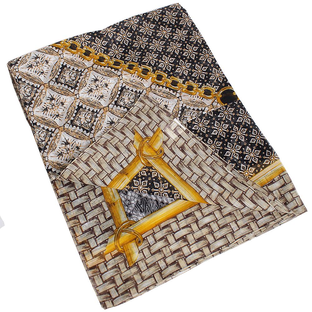 Хлопковый платок Fattorseta коричневого цвета