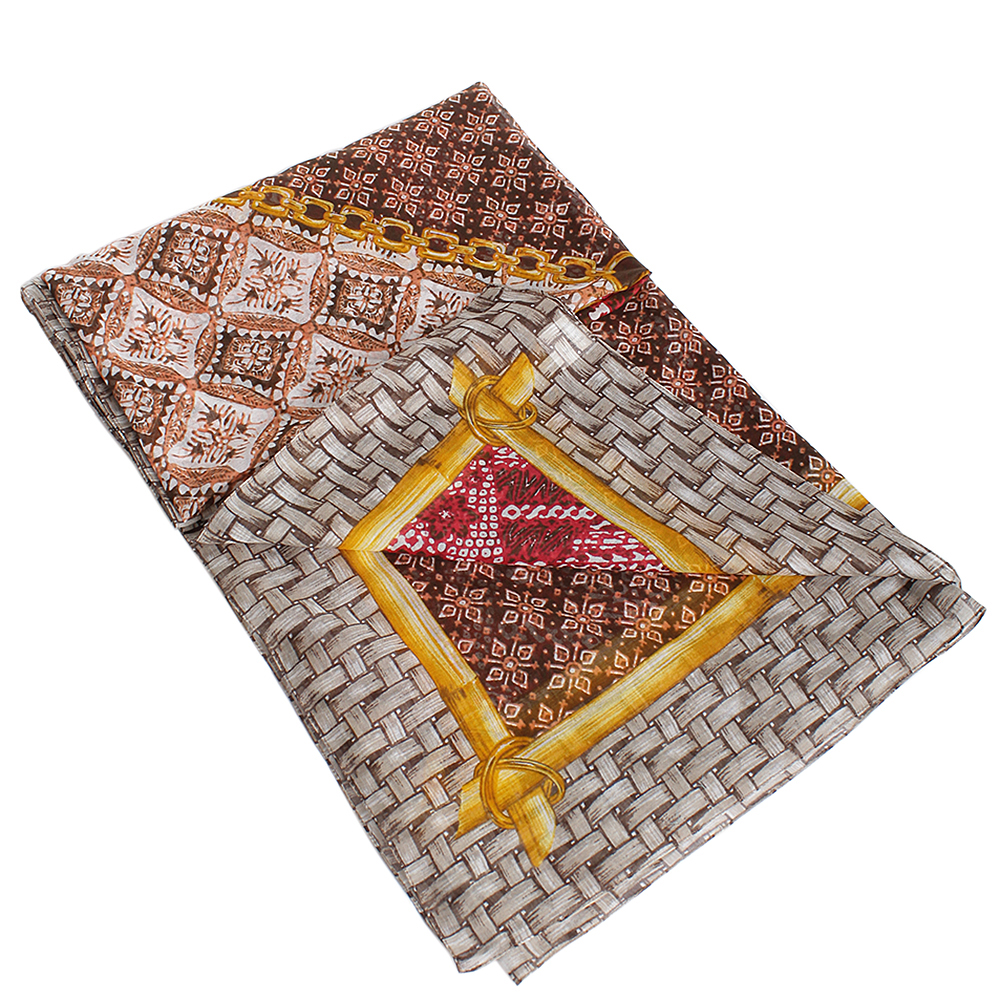 Платок Fattorseta цвета марсала из хлопка
