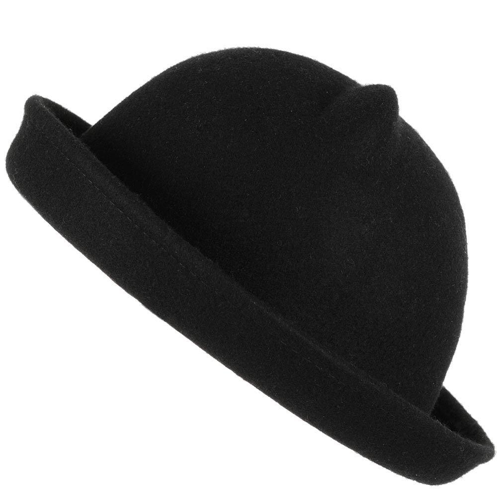 Шляпа с ушками черная