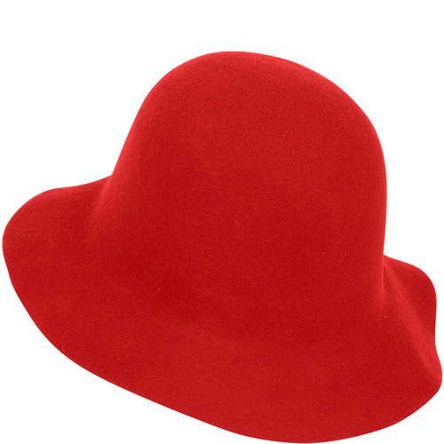 Шляпа флоппи Hat You красного цвета с короткими полями