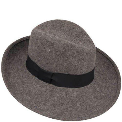 Шляпа-федора Hat You серого цвета с черной лентой