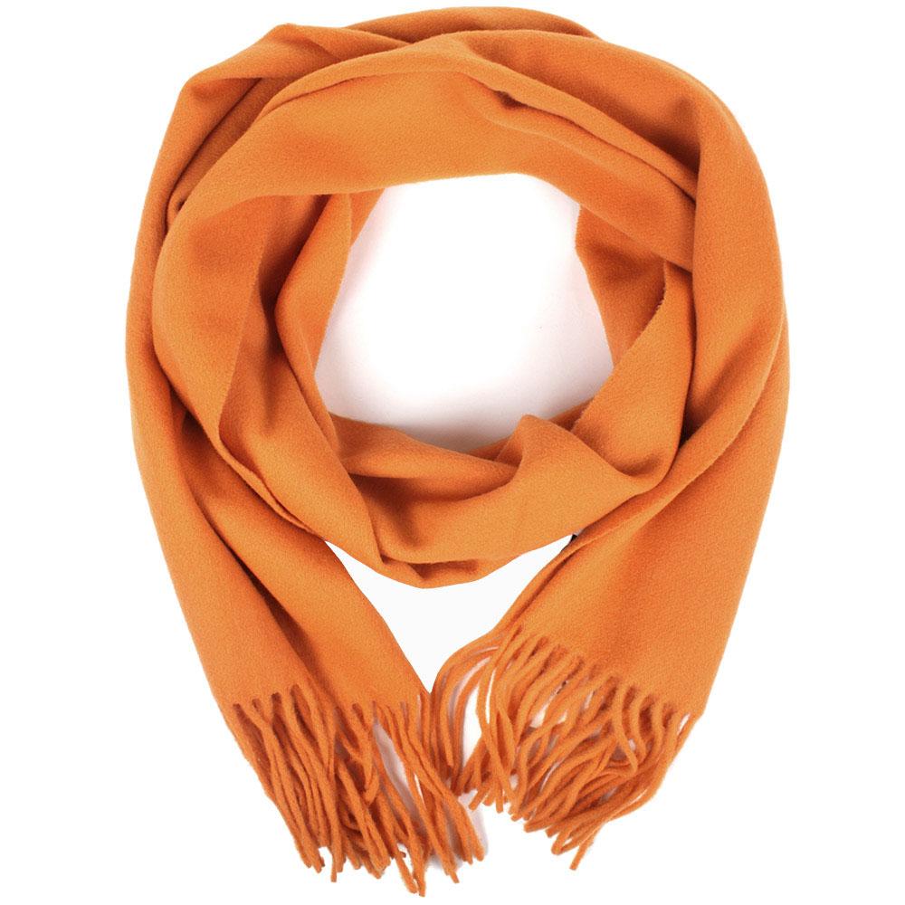 Оранжевый шарф Maalbi из натуральной шерсти