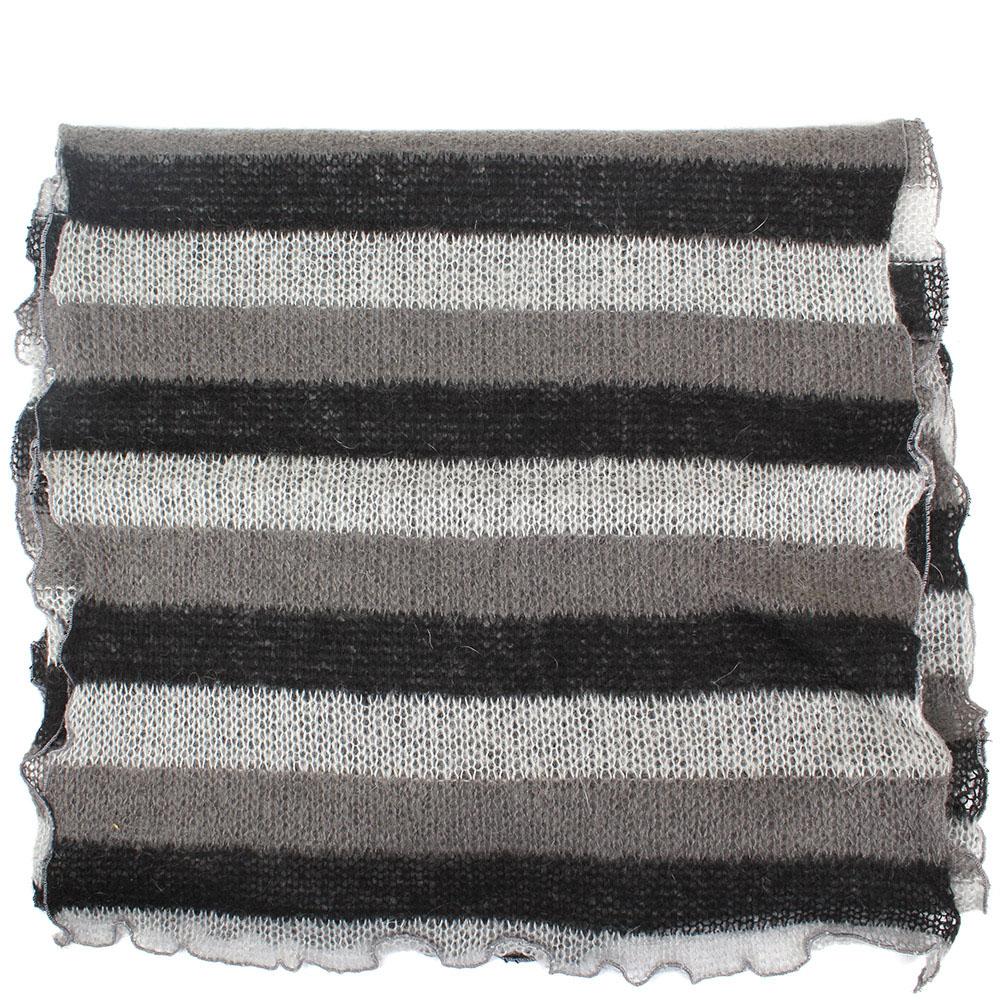 Серый шарф Fattorseta из шерсти