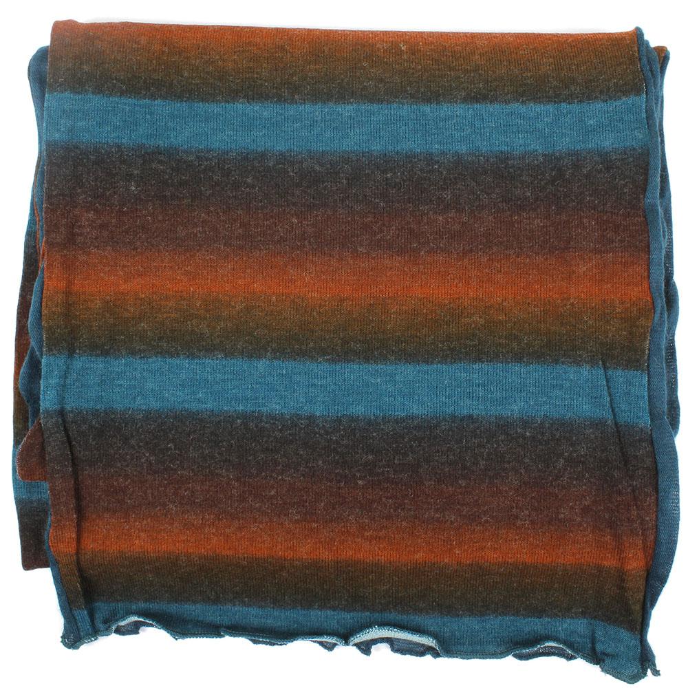 Голубой палантин Ostinelli из комбинированной ткани