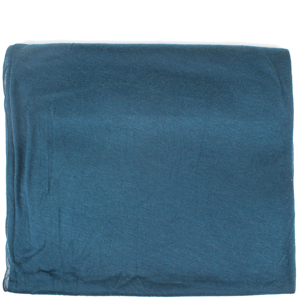 Широкий шарф Ostinelli синего цвета