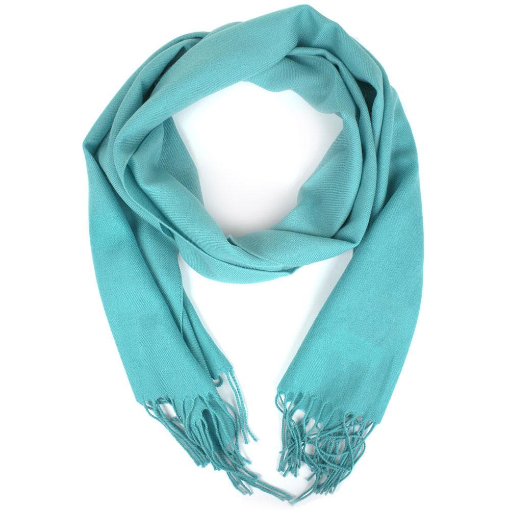 Голубой шарф Maalbi из натурального кашемира