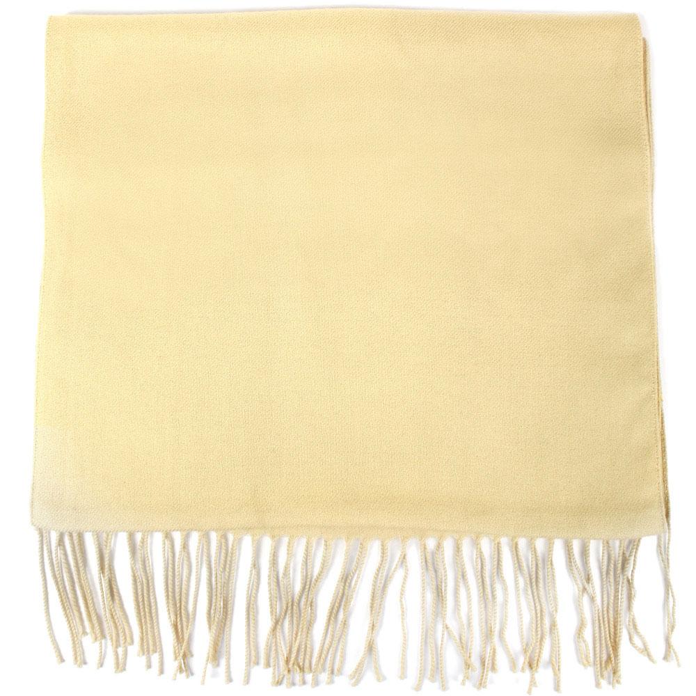 Бежевый шарф Maalbi из натурального кашемира