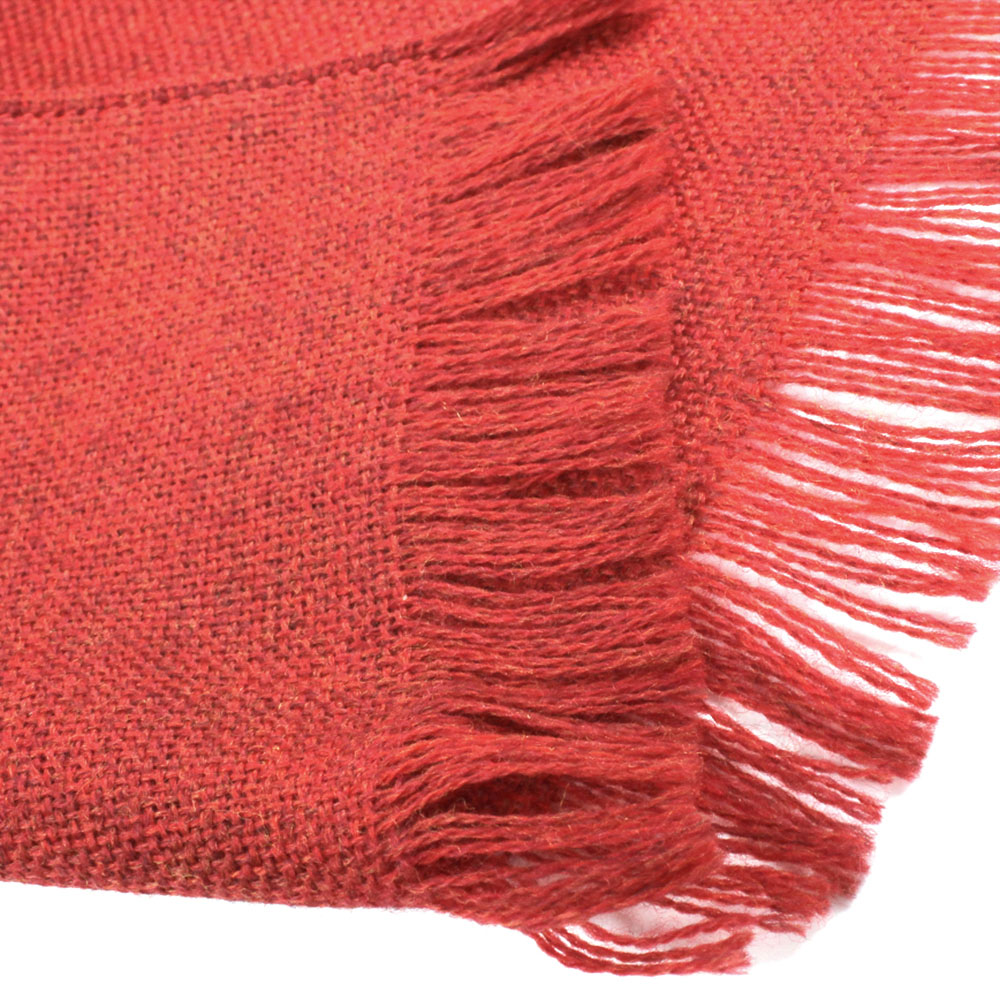 Красный шарф Maalbi из натуральной шерсти
