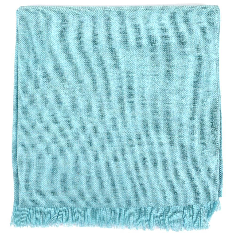 Бирюзовый шарф Maalbi из натуральной шерсти