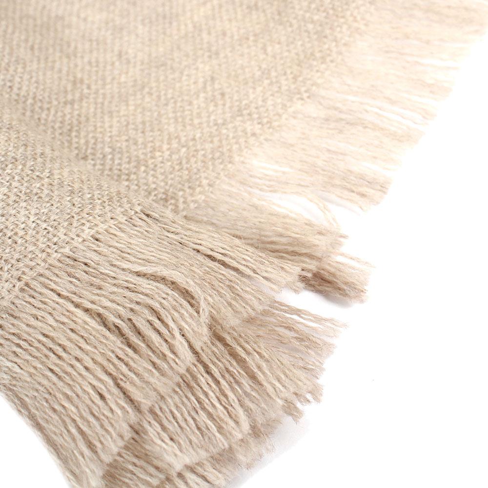 Бежевый шарф Maalbi из натуральной шерсти