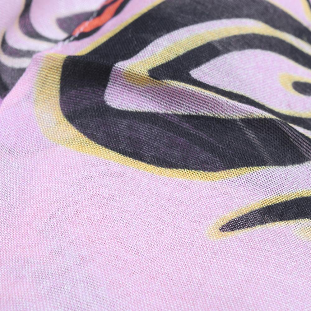 Розовый палантин Fattorseta с принтом