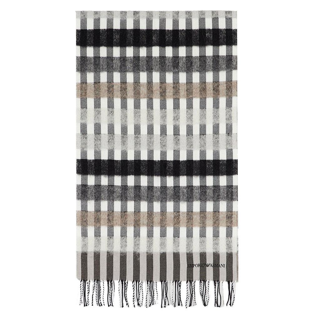 Женский шарф Emporio Armani серого цвета