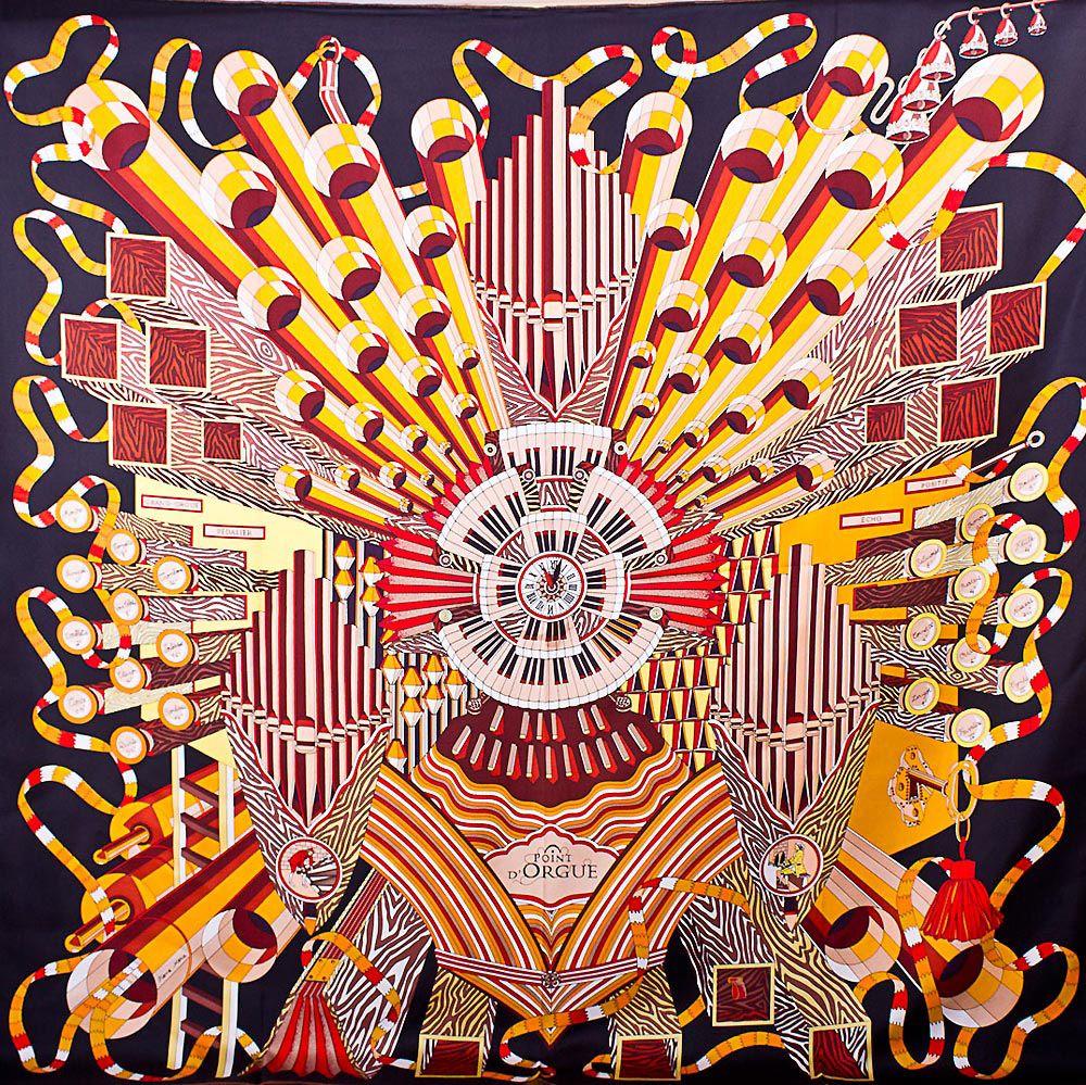 Шелковый платок Eterno со стилизованным мальтийским крестом