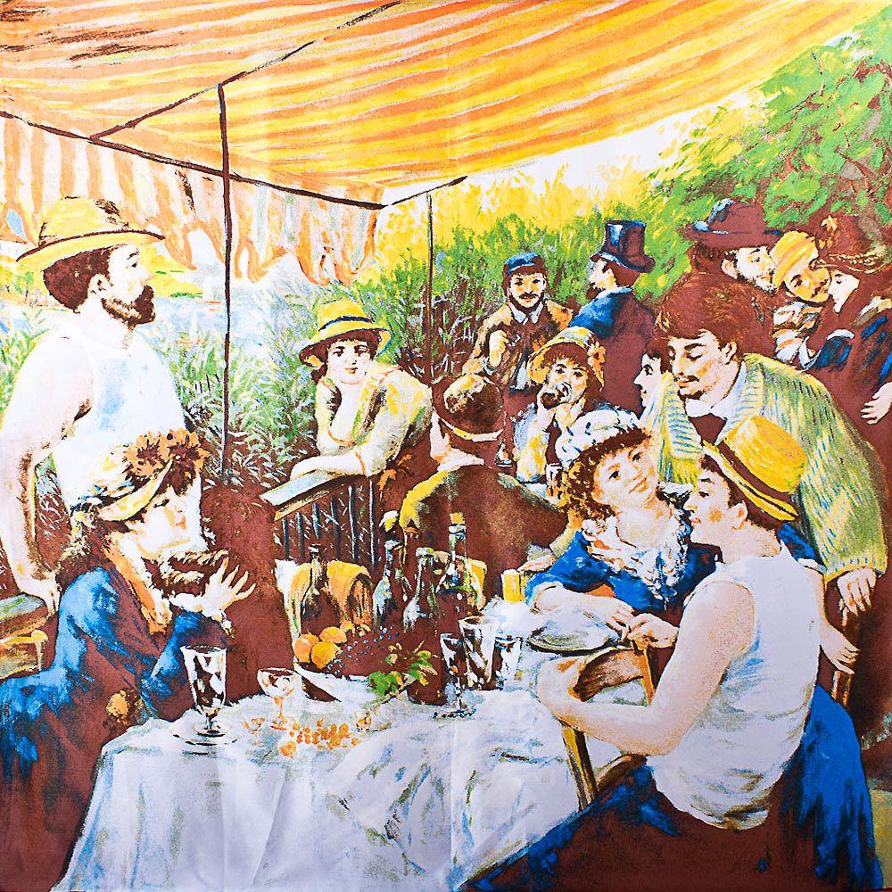 Шелковый платок Eterno Ренуар Завтрак гребцов
