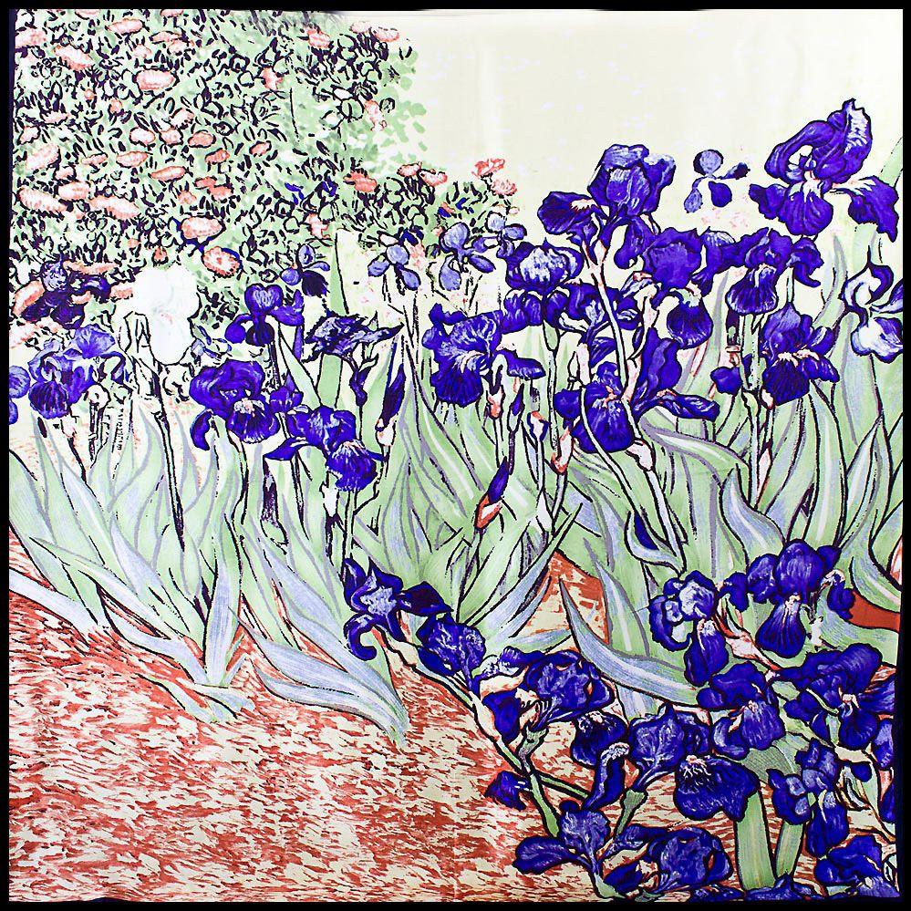 Шелковый платок Eterno Ван Гог Натюрморт с ирисами