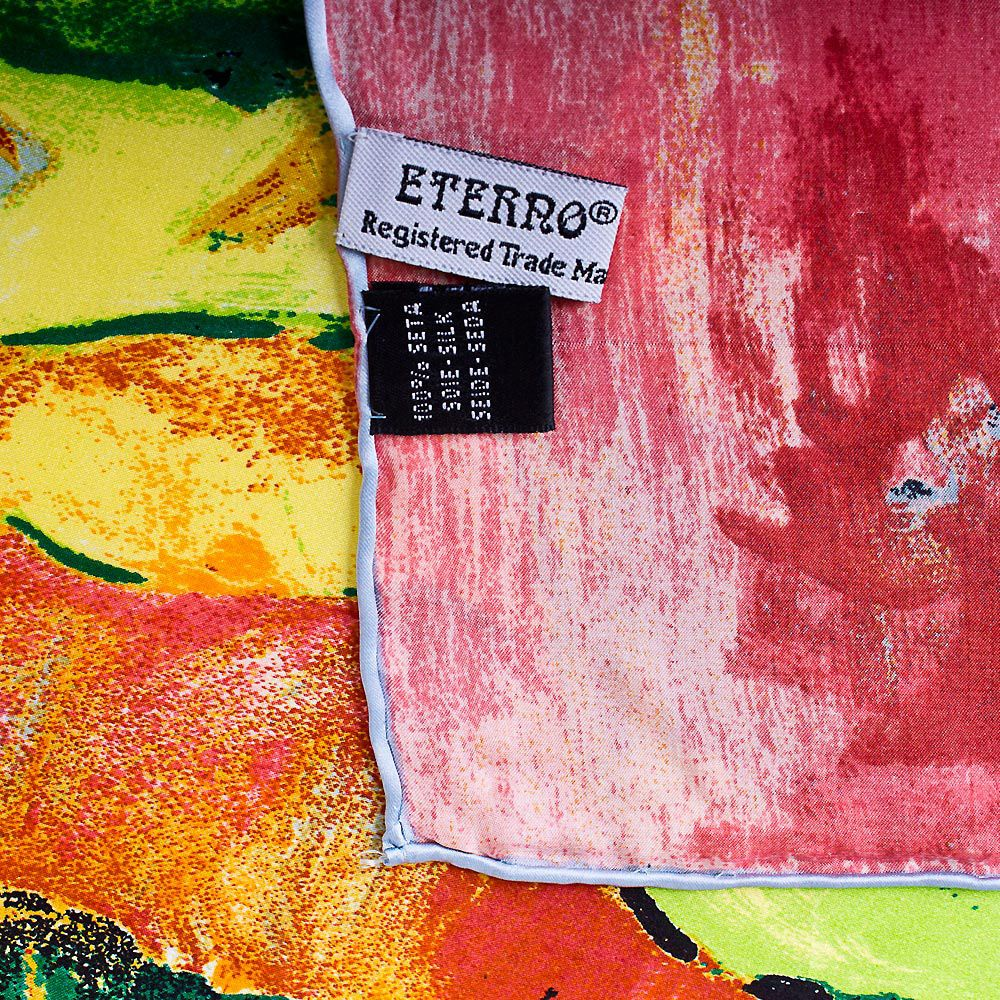 Шелковый платок Eterno с репродукцией Гогена Золотой урожай