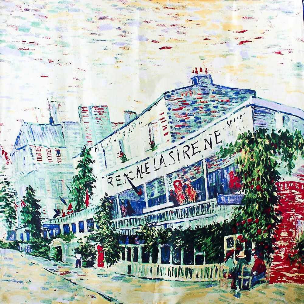 Шелковый платок Eterno Ван Гог Ресторан Сирена в Аньере