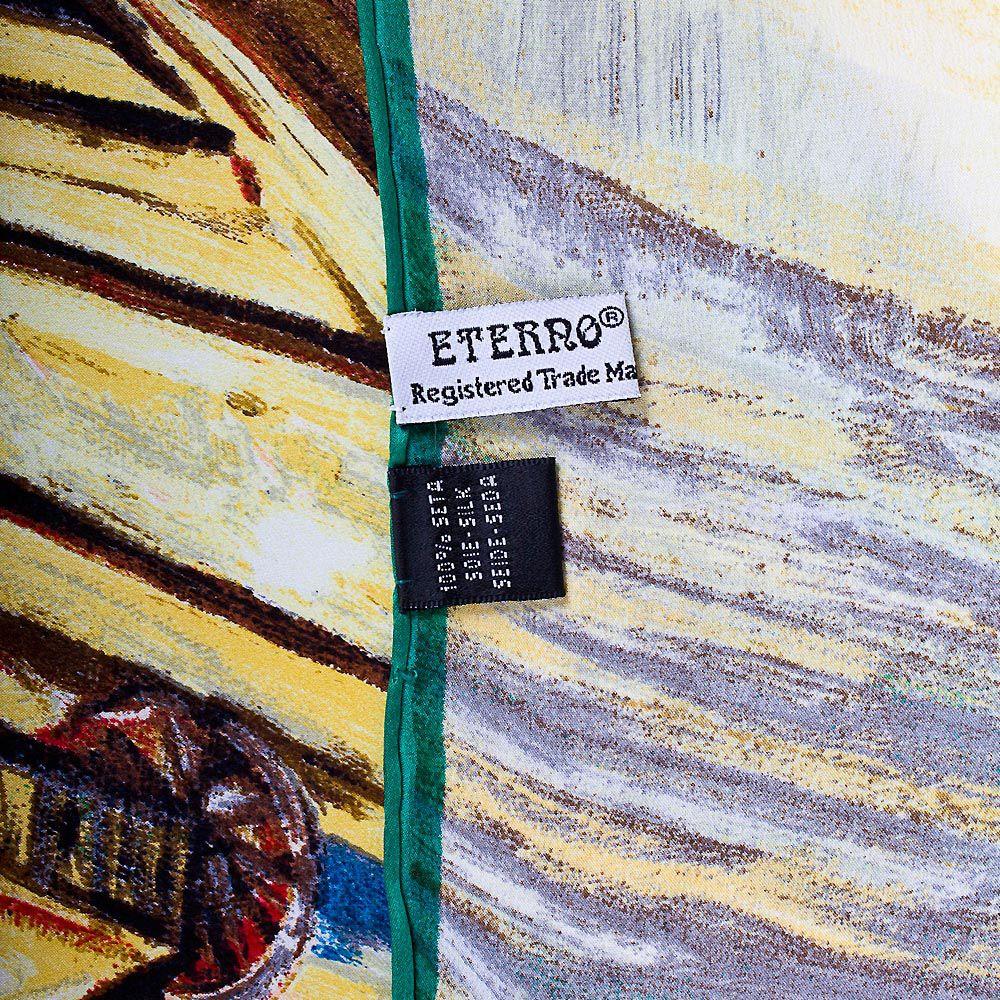 Шелковый платок Eterno Ван Гог Лодки с песком у причала